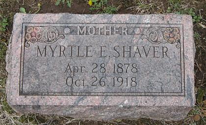 Myrtle Ethel (Bishop) Shaver