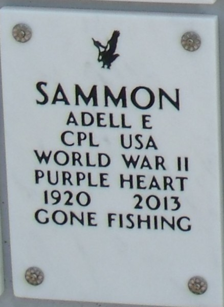 Adell Ernest Sammon WWII - Purple Heart recipient