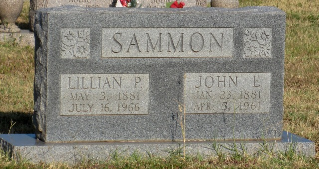 Lillian Priscilla (Davis) Sammon and John Ellis Sammon