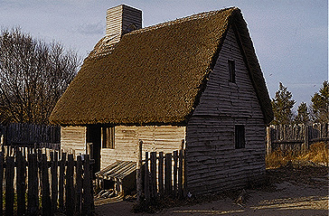 Plymouth Plantation Reconstruction of George  and Mary Soule's House
