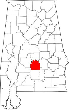 """Map of Alabama highlighting Lowndes County"" by David Benbennick - The maps use data from nationalatlas.gov, specifically countyp020.tar.gz on the Raw Data Download page. The maps also use state outline data from statesp020.tar.gz. The Florida maps use hydrogm020.tar.gz to display Lake Okeechobee.. Licensed under Public Domain via Wikimedia Commons - http://commons.wikimedia.org/wiki/File:Map_of_Alabama_highlighting_Lowndes_County.svg#/media/File:Map_of_Alabama_highlighting_Lowndes_County.svg"