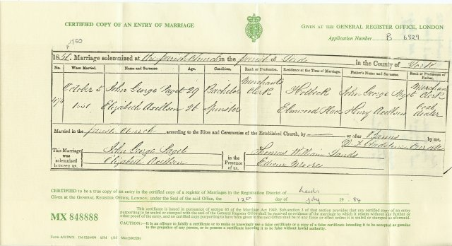 Marriage Record from Leeds