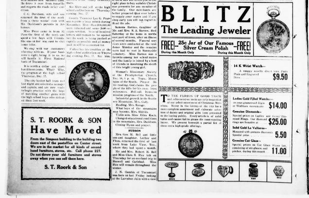 S. T. ROORK & SONHave Moved! December 10, 1914
