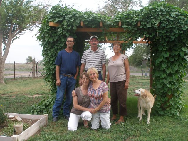 The two sons and three daughters of Claud and Rachel Roork in Roswell, NM, 2012.
