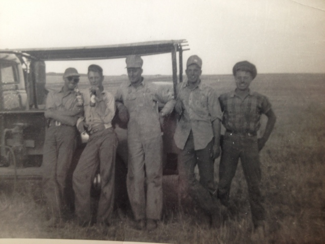 Left to right Harry Parson, Dale Rathbun, Delmont Jones, Wayne Wilson, and your dad Wesley Pepper.
