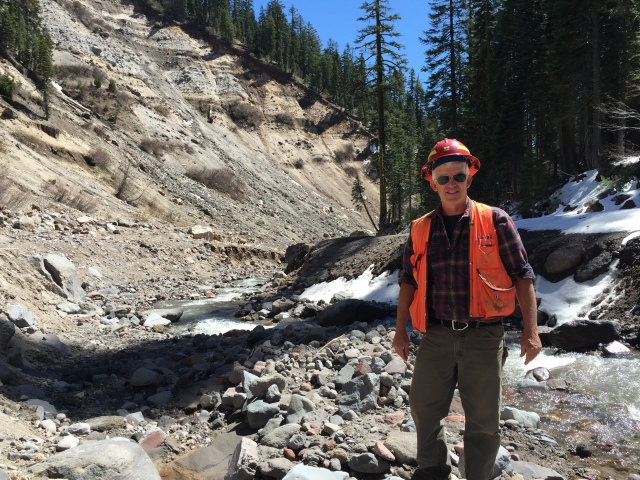 Grandpa Rust (Brad) out in his element!!! Mud Creek on Mount Shasta Spring 2015